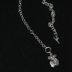 teddy bear toggle necklace